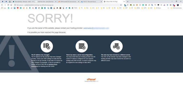 Lessons Learned from Web Hosting Disaster Recovery