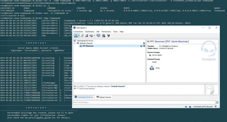 Setting up TeamSpeak 3 with Docker on DigitalOcean
