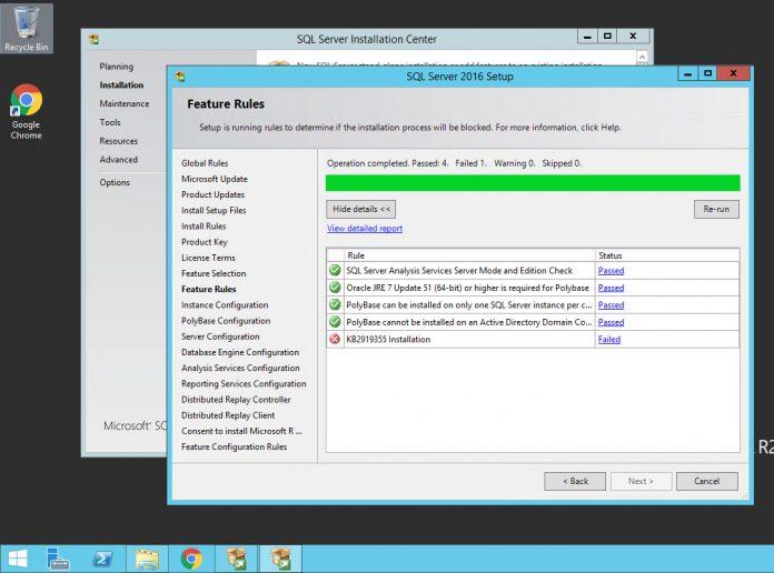 Windows Server 2012 RS KB2919355 During SQL Server Installation